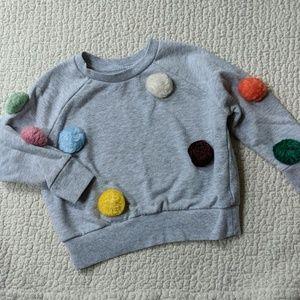 Gymboree Shirts & Tops - Gymboree pom pom sweatshirt